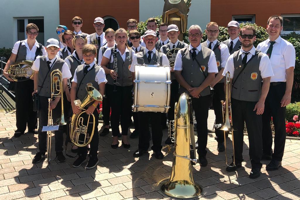 Gruppenfoto Musikverein Bökendorf